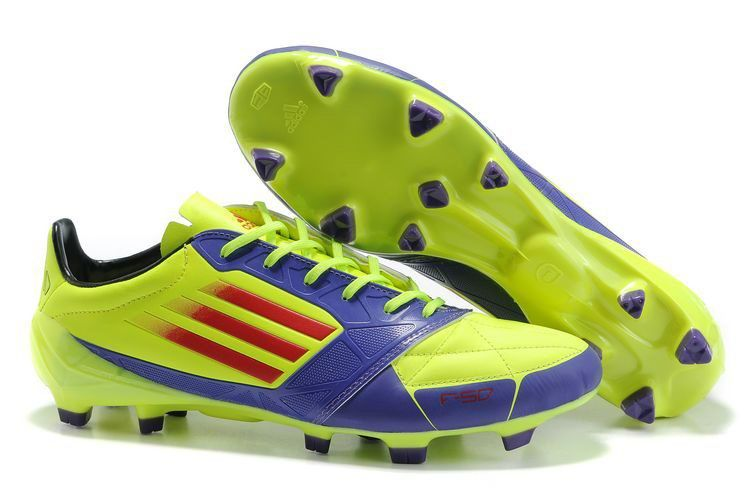 Adidas F50 Adizero Prime SL TRX FG Yellow Blue Red Soccer Shoes
