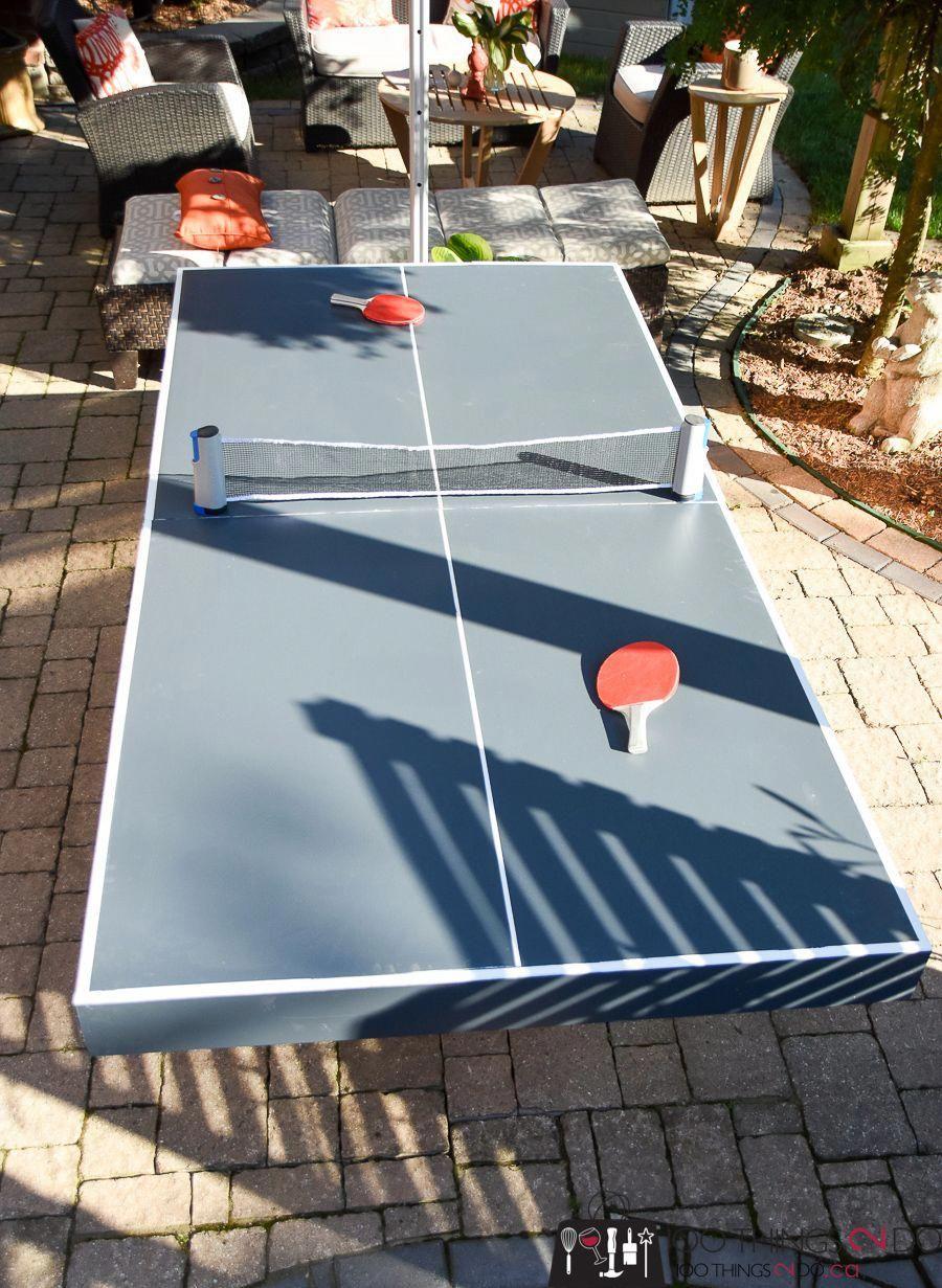 Folding ping pong table diy ping pong table ping pong