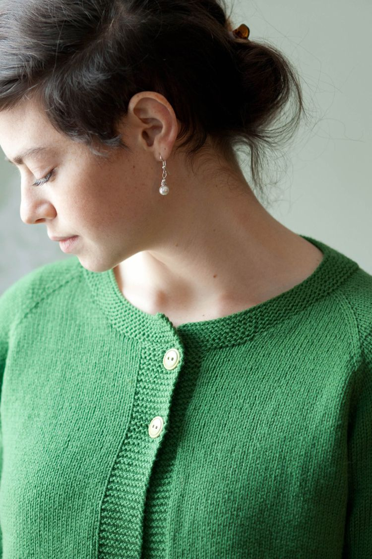 Simple Cardigan by Hannah Fettig for Quince & Co. I\'ve been looking ...
