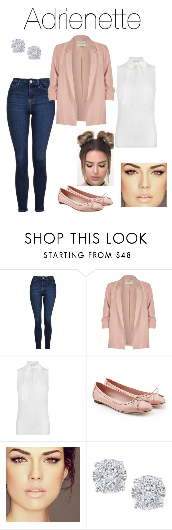 """Miraculous: Adrienette shipper outfit"" by sweaf840 ❤ liked on Polyvore featuring Topshop, River Island, MICHAEL Michael Kors, Salvatore Ferragamo and Effy Jewelry"