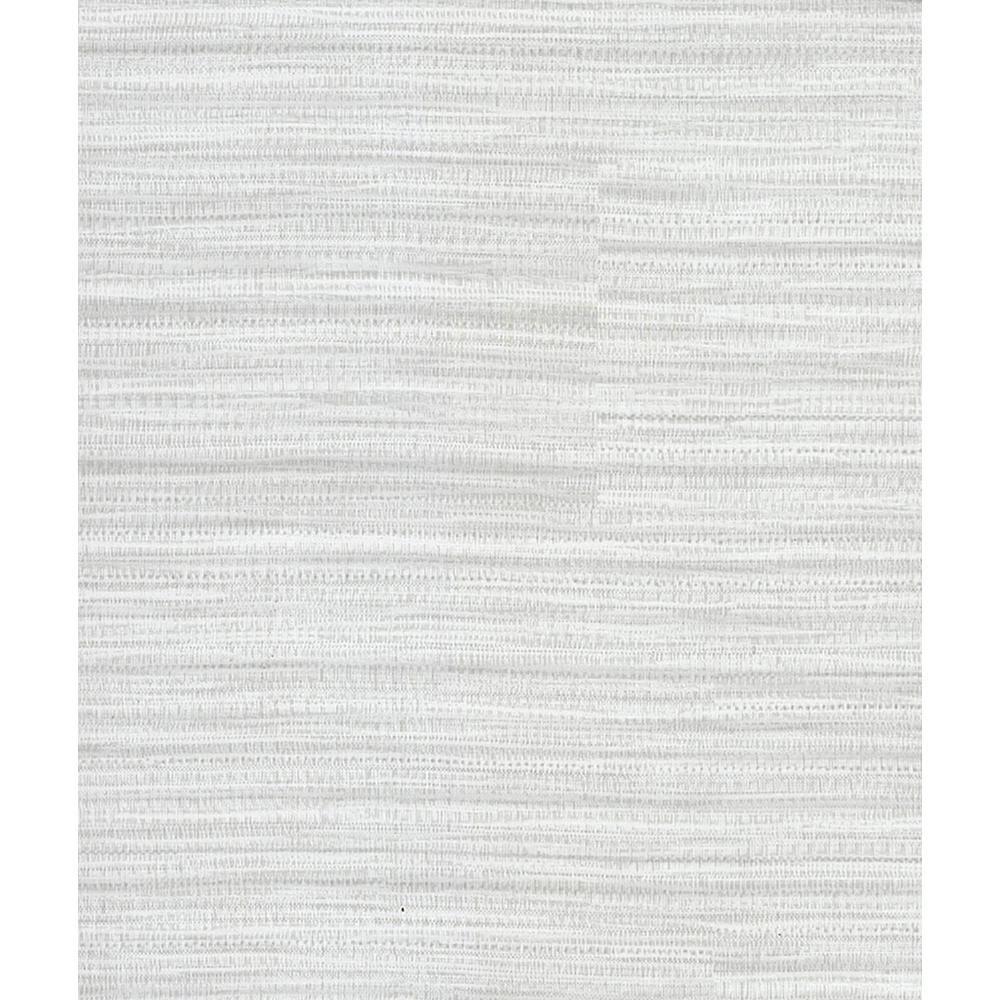 8 in. x 10 in. Tyrell Light Grey Faux Grasscloth Wallpaper