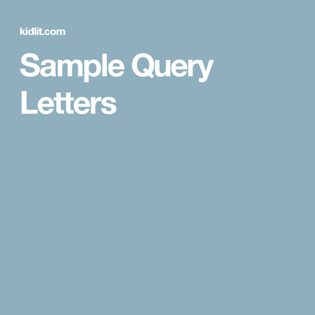 Sample query letters manuscripts query letters pinterest sample query letters spiritdancerdesigns Gallery