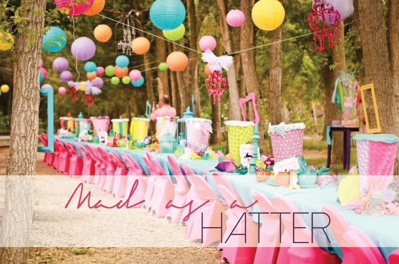 Bride Bubble Madder Hatter Tea Party Wedding Theme