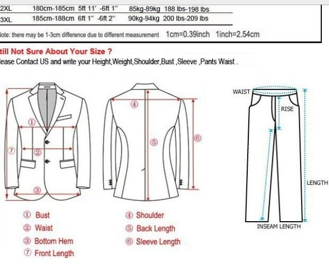 Measure For A Suit Mens Pants Fashion Suit Measurements Sewing Men