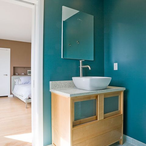 teal color wall paint design ideas, pictures, remodel and