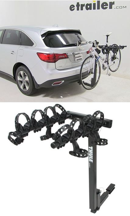 Acura Mdx Thule Hitching Post Pro Folding Tilting 4 Bike Rack W Anti Sway 1 1 4 And 2 Hitches Acura Mdx Acura Hitch Bike Rack