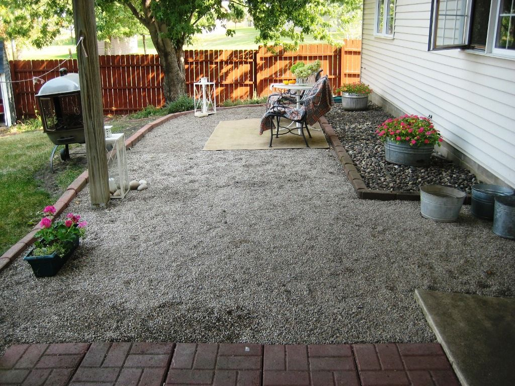 pea gravel patio design ideas | patio/deck | pinterest | pea ... - Rock Patio Designs