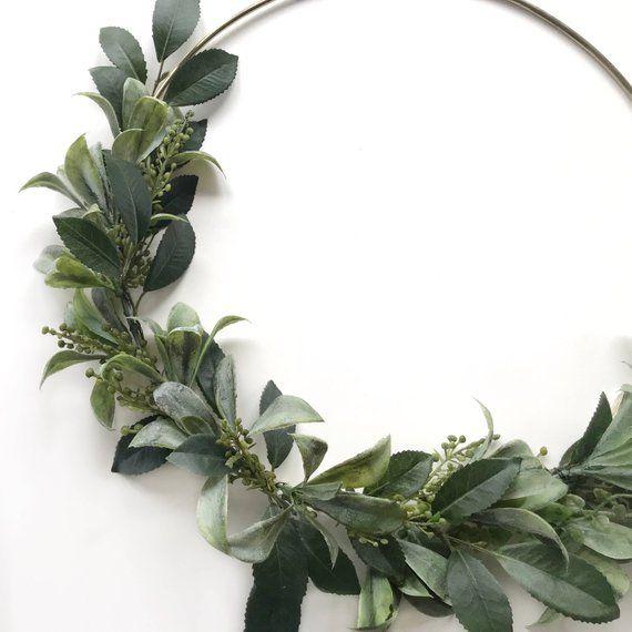 Photo of Green wreath – modern wreath – green wall hanging – tire wreath – nursery wall decoration – door wreath – wall hanging – kindergarten decoration