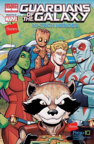 Gratuit !!! Hi-Tech Heroes Presented By Hanes n°1 (03.05.2017) #hitechheroes #guardiansofthegalaxy #marvel #comics