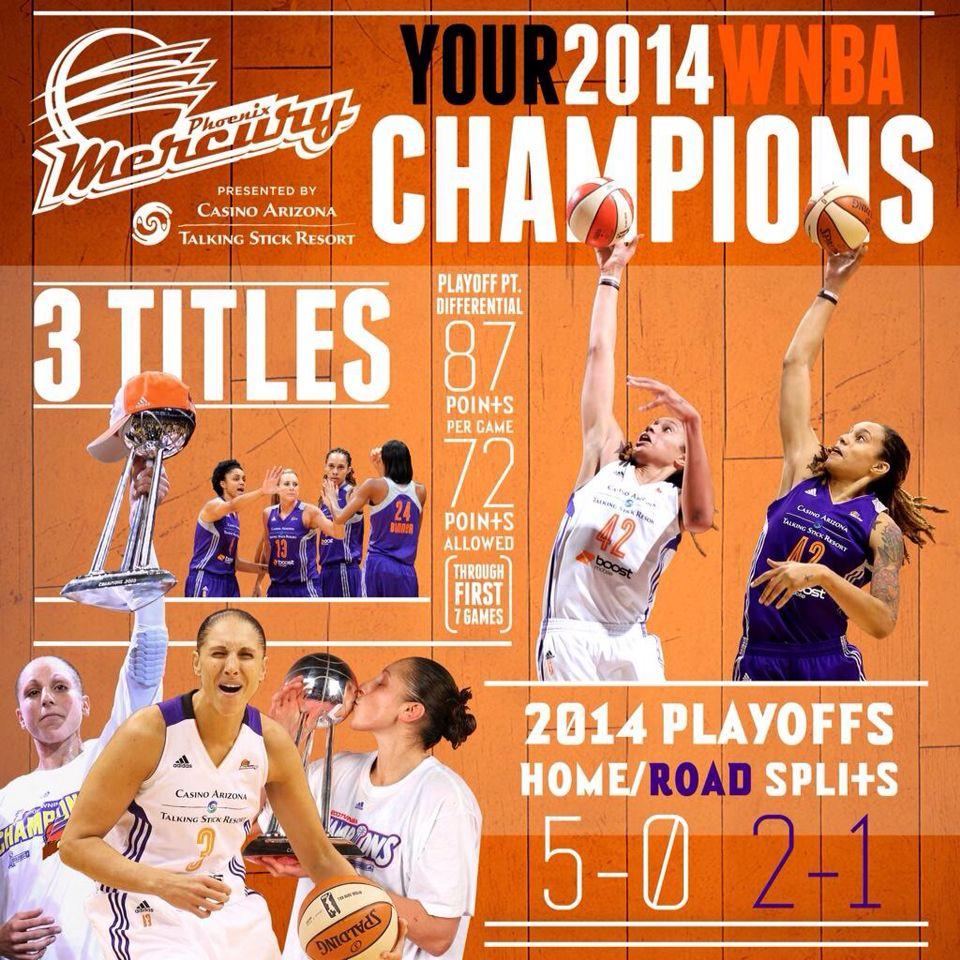 The Phoenix Mercury 2014 WNBA champions! Wnba