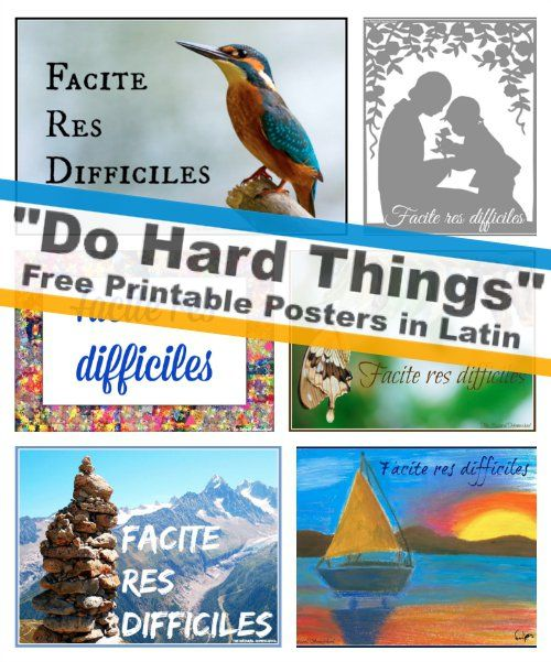 I Can Do Hard Things Printable in Latin + Latin Curriculum