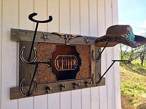 Rustic Decor Horse Over-The-Door Cowboy Hat Rack