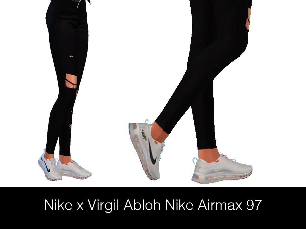 HypeSim – NIKE x VIRGIL ABLOH AIRMAX 97 | Sims 4 clothing