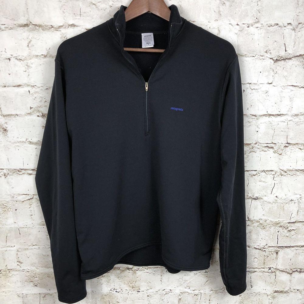 c32cc43977b Patagonia Mens Black Half Zip Base Layer Black Back Pocket Size Large USA  Made  fashion  clothing  shoes  accessories  mensclothing  activewear (ebay  link)