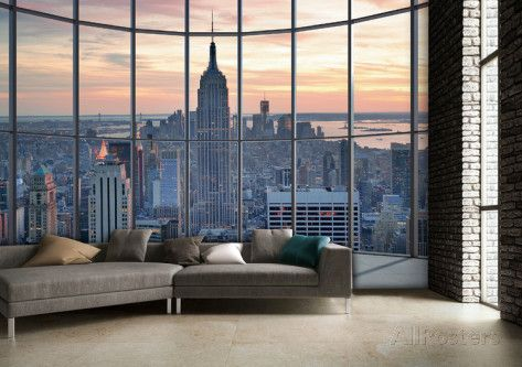 New York Window Wall Mural | Window wall, Wall murals and Window