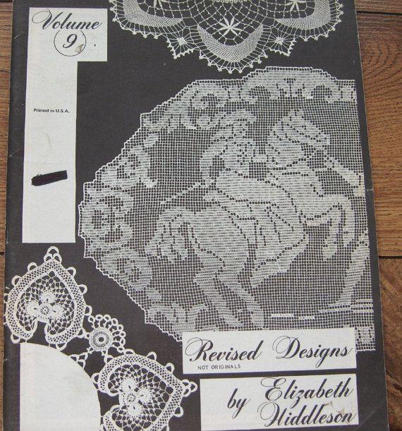 Vintage 70s Crochet Pattern Elizabeth Hiddleson Volume 9 Filet