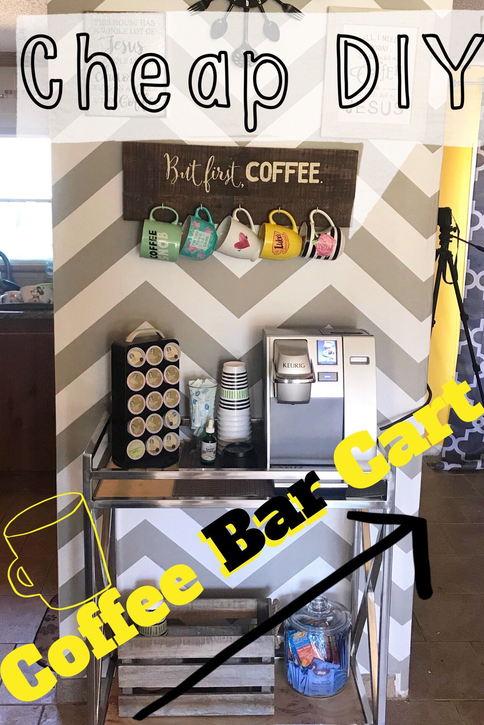 diy cute and cheap coffee bar cart rudieg s home ideas