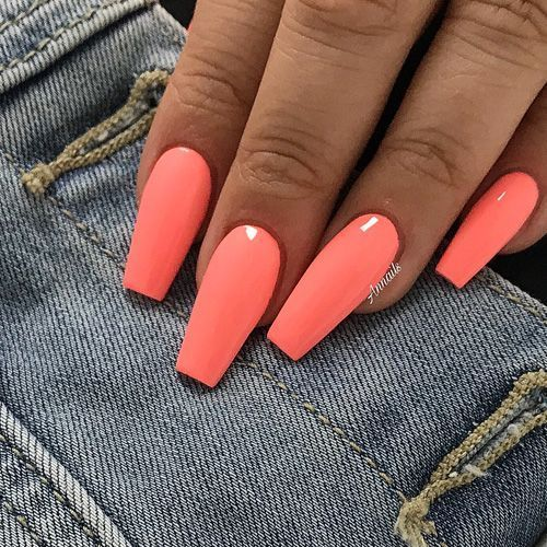 61 Summer Nail Color Ideas For Exceptional Look 2019 Koees Blog #summernails
