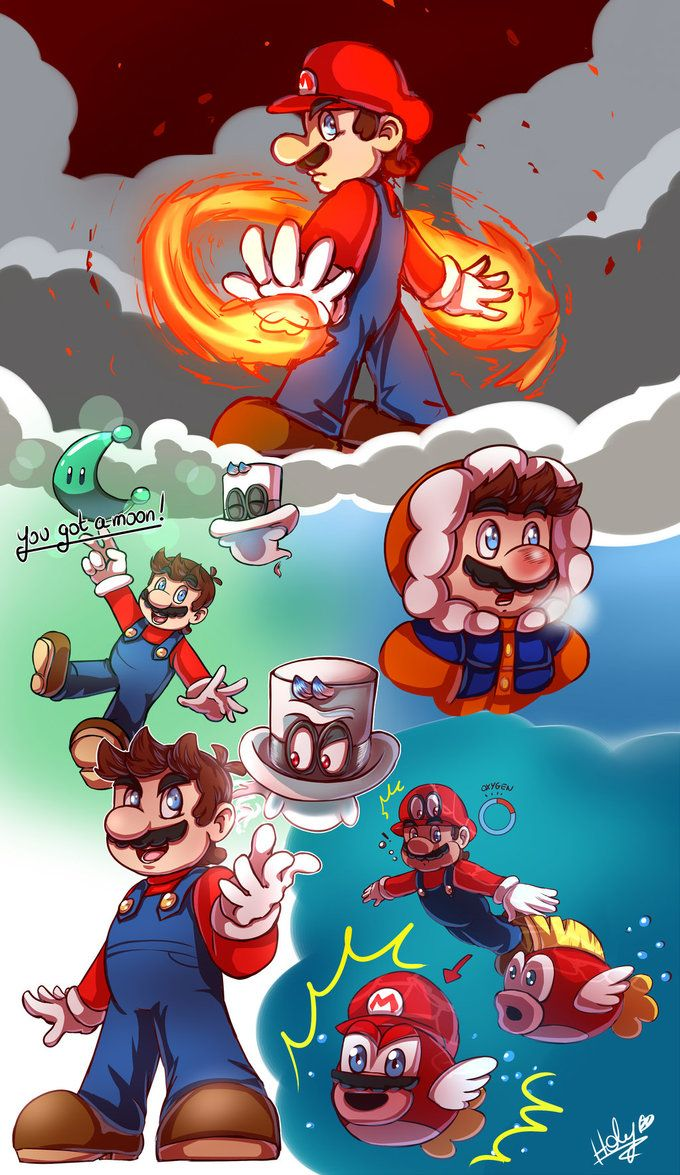 Sketches Super Mario By Lc Holy Deviantart Com On