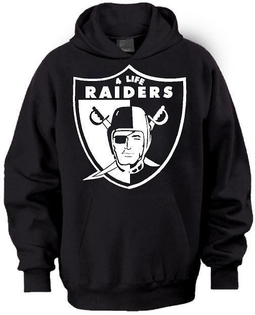 New School Old School Raiders 4 Life Pullover Hoodie  a7cb81c7b