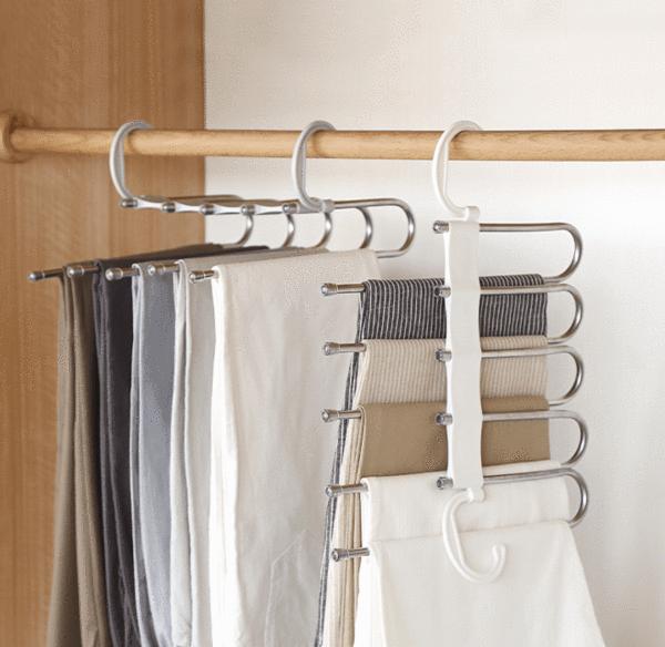 Collapsible Pant Hanger Rack Iwonted Adjustable Closet Organizers Pants Rack Pants Organization