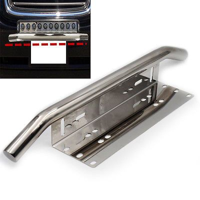 35 99 Heavy Duty Offroad Bumper License Plate Mounting Bracket Led Fog Light Silver Interchange Part Number For A With Images Led Fog Lights License Plate Heavy Duty