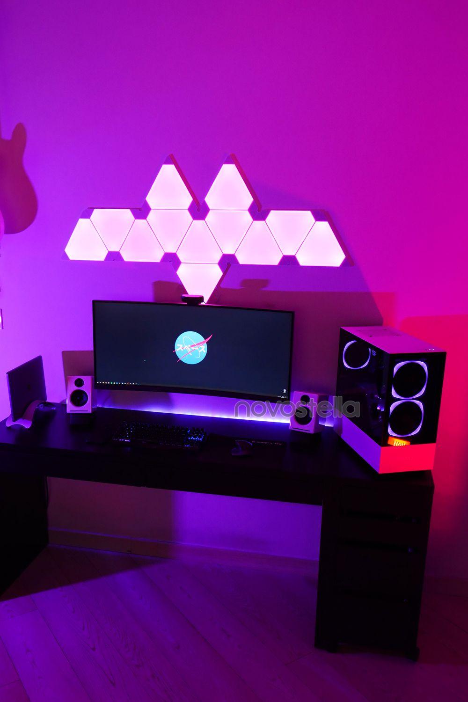 110 Gaming Room Inspiration Ideas In 2021 Lights Led Lights Game Room