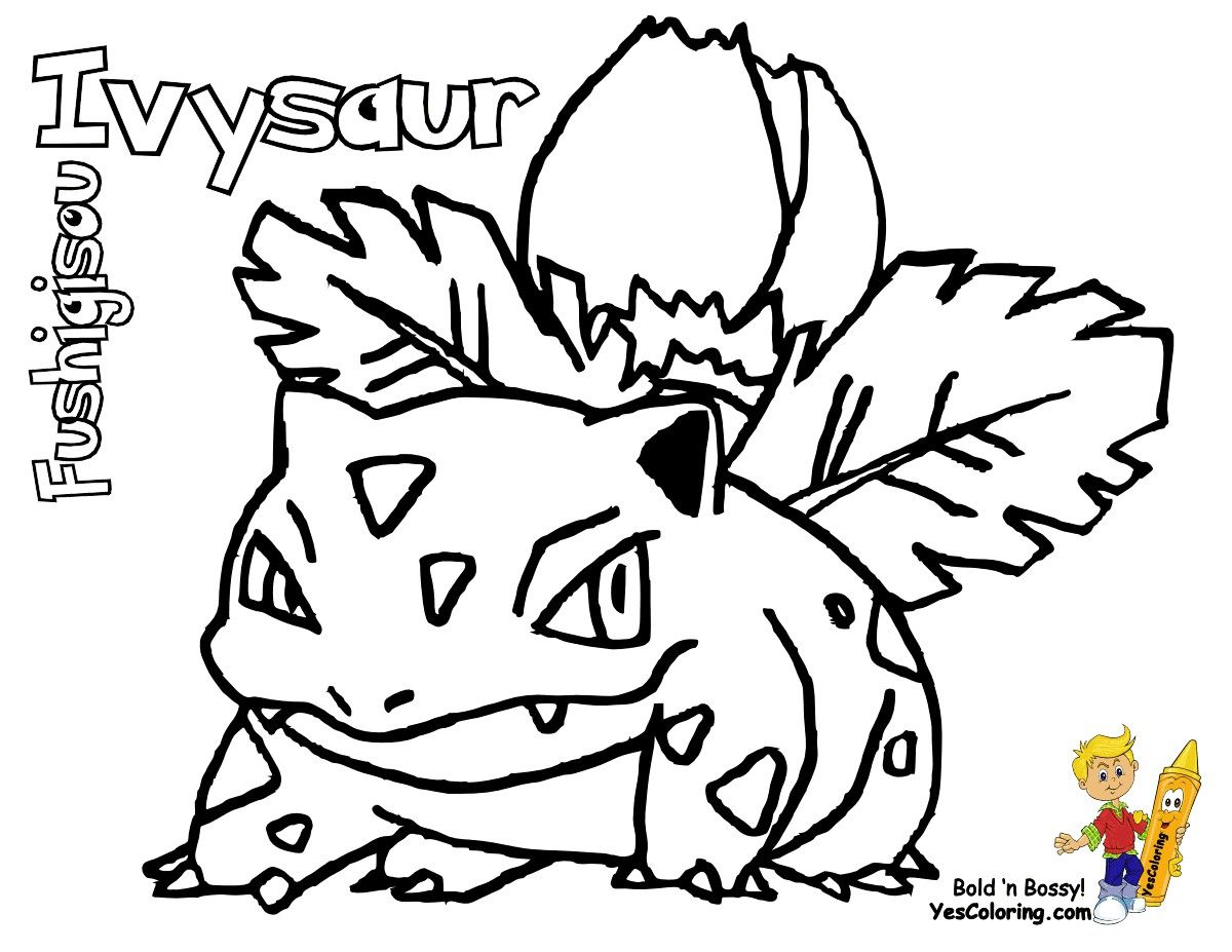 Pokemon Kleurplaten Ivysaur.Pokemon Coloring Pages Ivysaur Through The Thousand Photographs