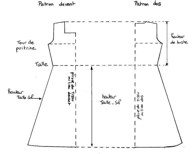 Patron robe droite taille 46 gratuit