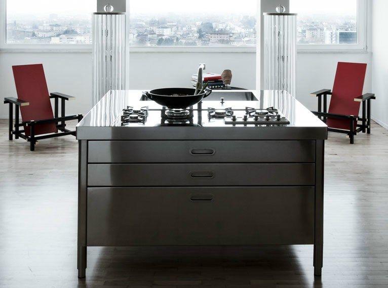 ISOLA CUCINA 130 (1) Modulo cucina in acciaio inox by ALPES-INOX ...