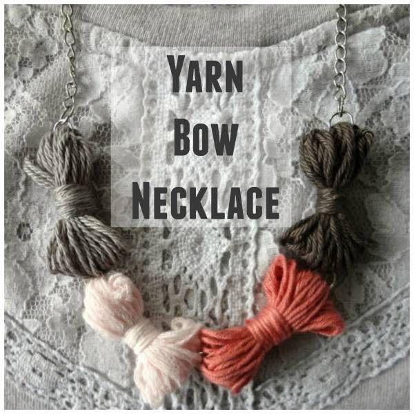 Yarn Bow Necklace