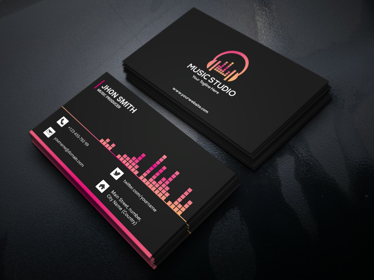 Musical Business Card Business Card Layout Design Business Cards Layout Music Business Cards
