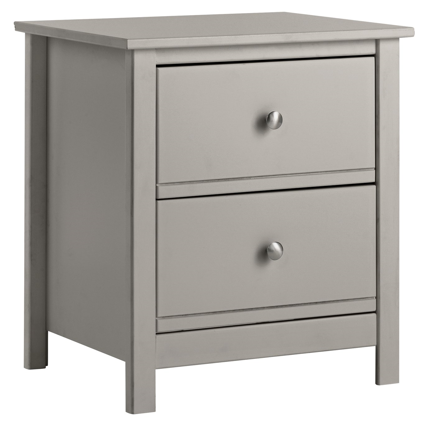 Argos Home Brooklyn 2 Drawer Bedside Table Grey H54 X W49 X D40cm In 2020 White Bedside Table Bedside Table Grey Kids Bedside Table