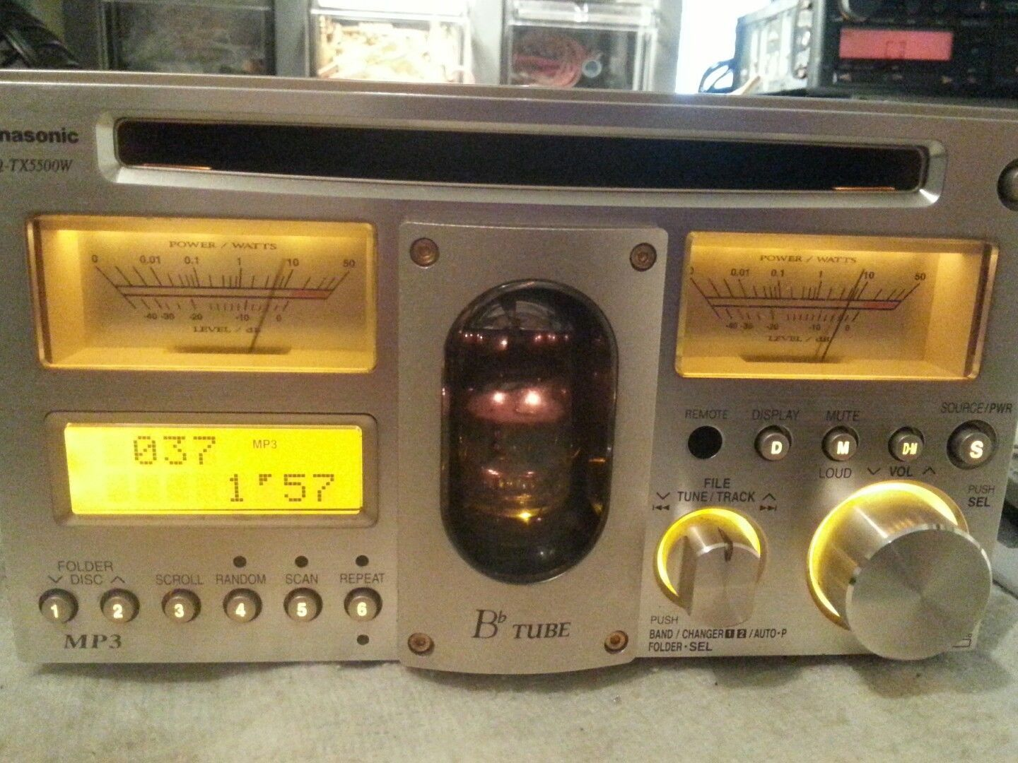 hight resolution of rare panasonic cq tx5500w vacuum tube cd mp3 player aux top radio autoradio ebay