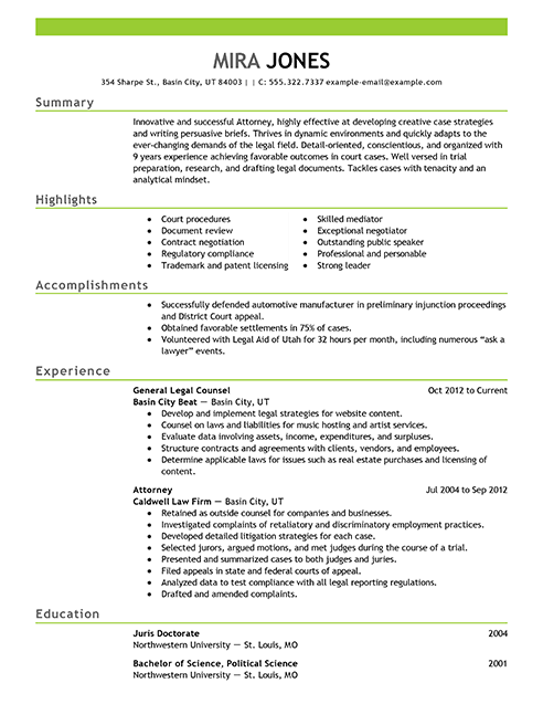 Resume Examples Lawyer Resume Templates Resume Examples Good Resume Examples Federal Resume