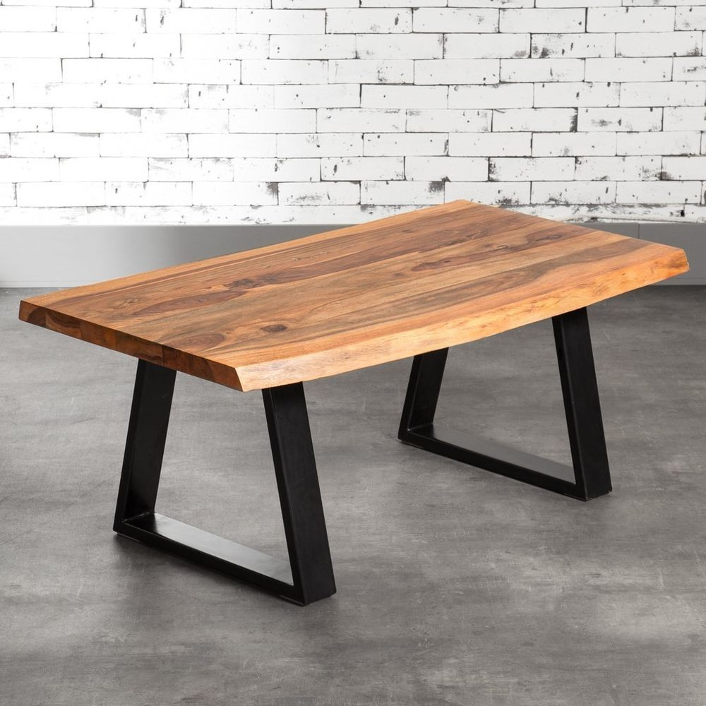 Details Zu Couchtisch Tisch Massiv Holz 110x70 Akazie Baumkante