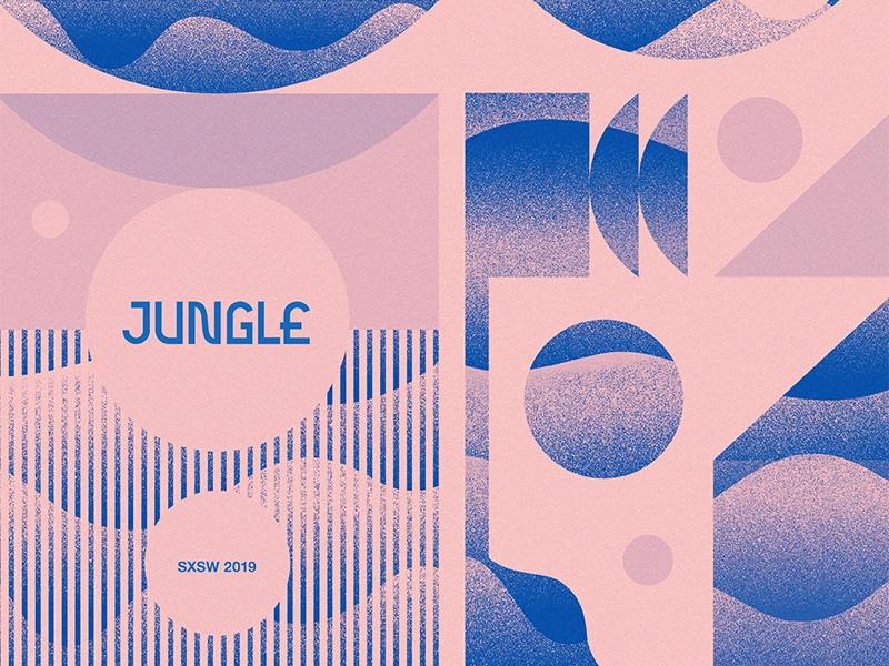 Jungle Sxsw Steve Wolf Poster Design Graphic Design Inspiration