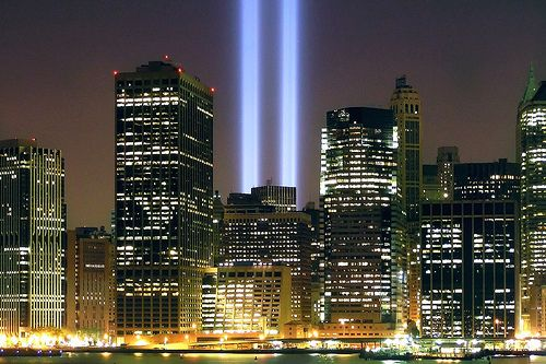 Remembering 9 11 Share Your Memories Places Tower Light Lit Wallpaper