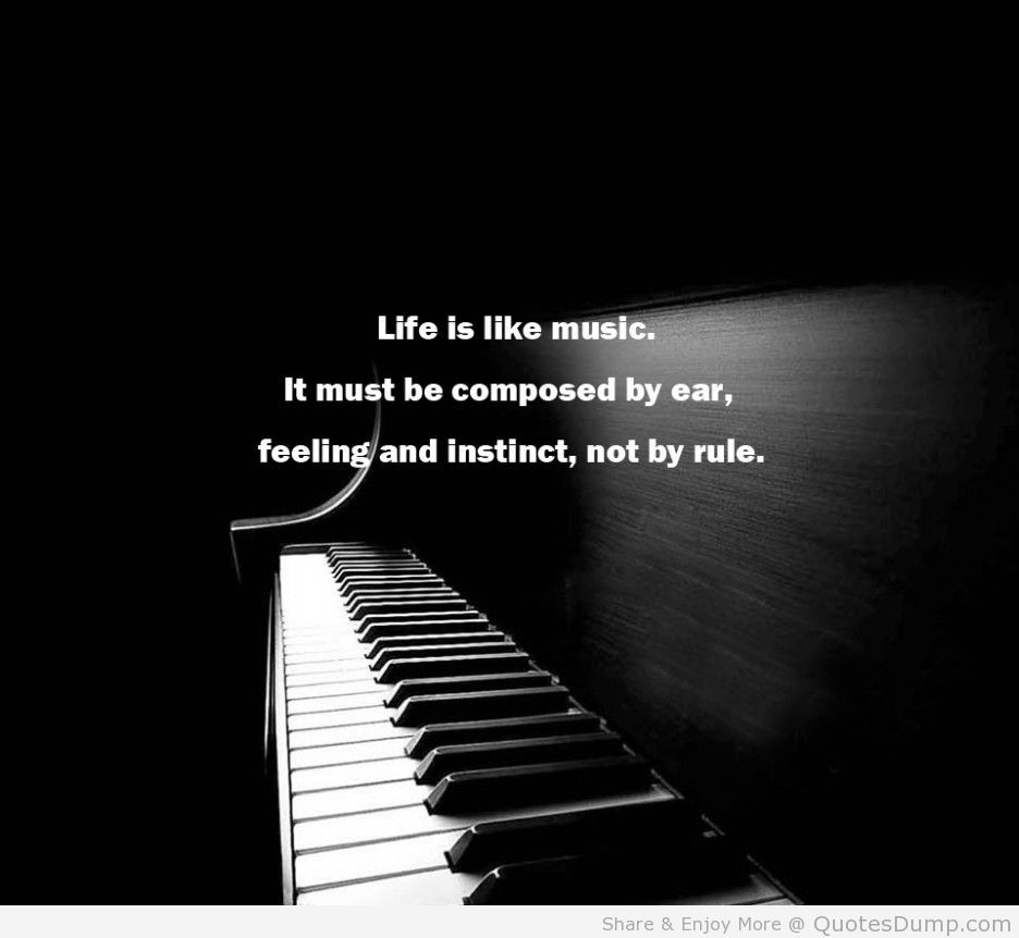 Life quotes life is like music quote by samuel butler and the piano picture