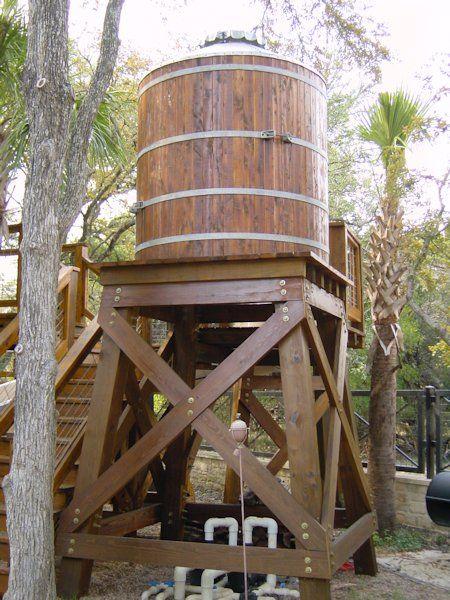 Wood Water Storage Tanks With Wood Or Steel Tower Wood