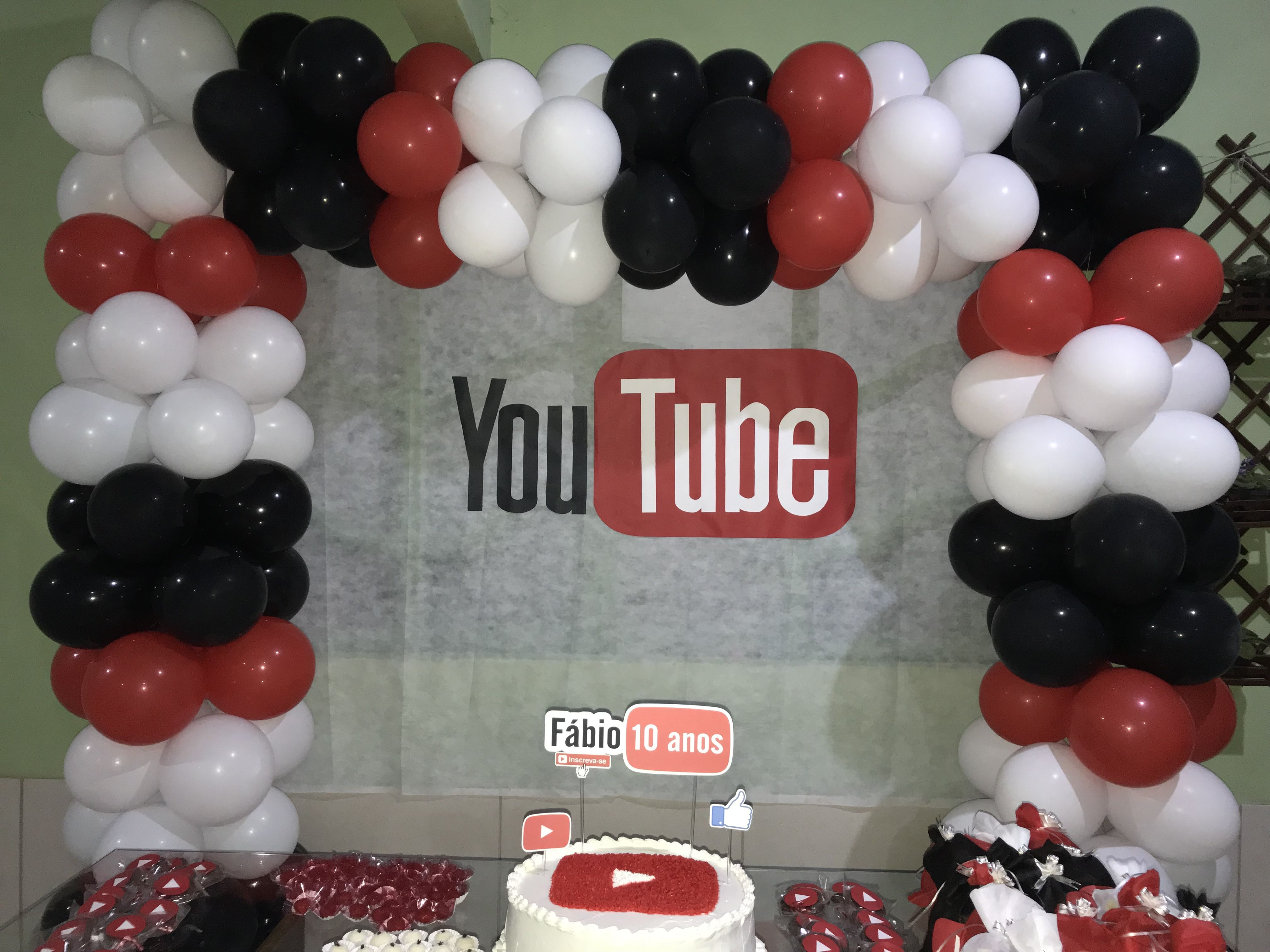 Pin By Kyssilla Nestor Boyd On Youtube Themed Party 7th Birthday Party Ideas Youtube Party Youtube Birthday