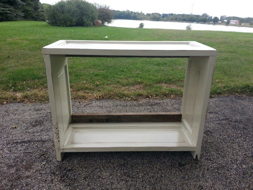Old door tv stand