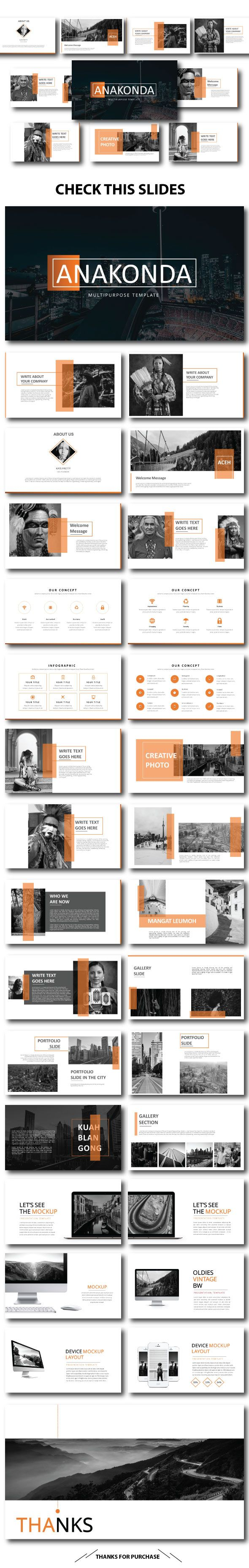 Anakonda Keynote Template  Presentation Templates Brochures And