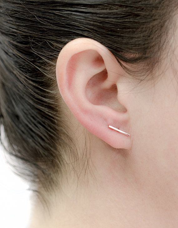 featured bar australia fashion simple t stud sillver earrings punk for new gold