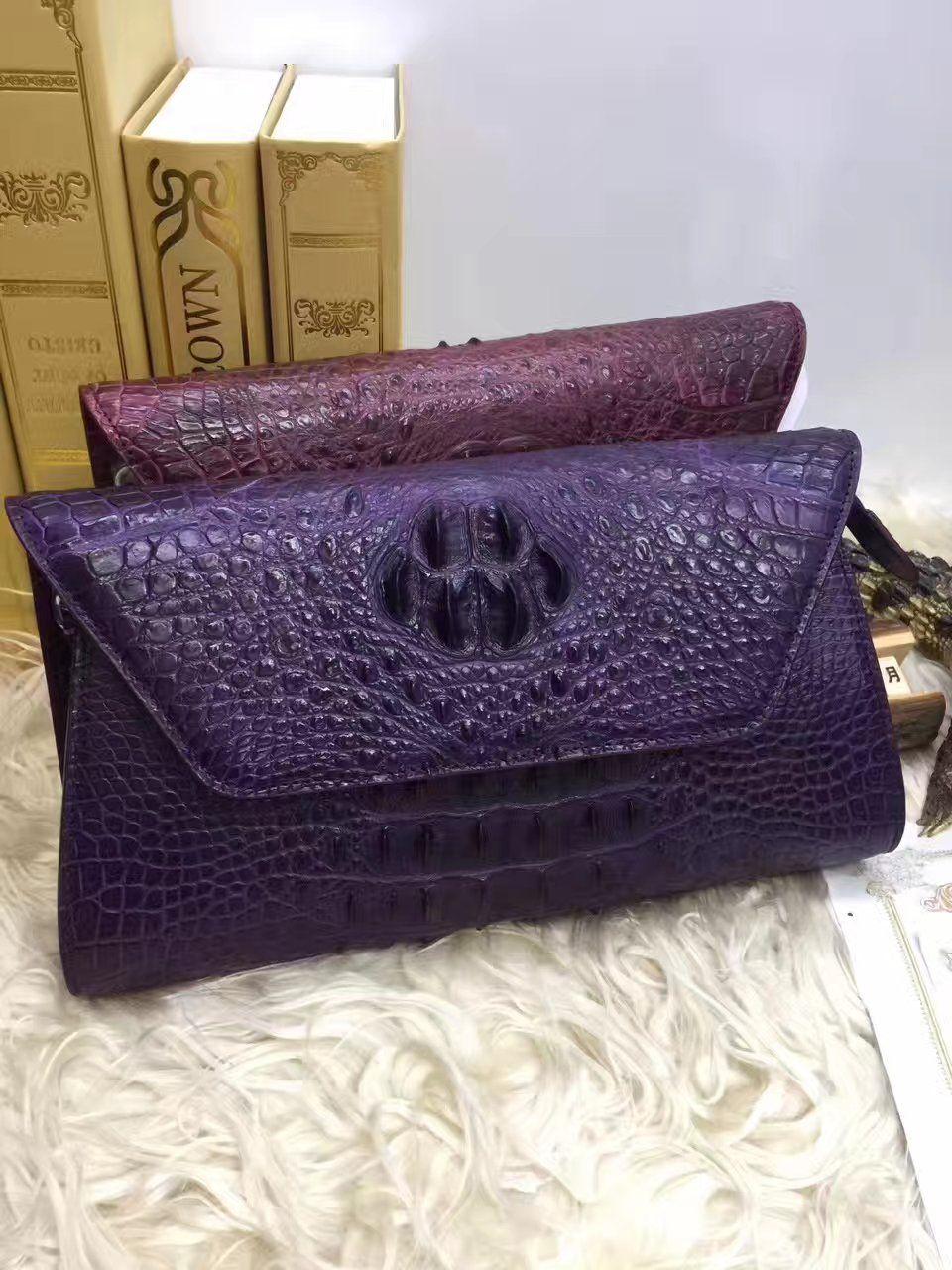 1f9e1bdc6f4af 100% genuine crocodile leather skin women clutch wallets purse long ...
