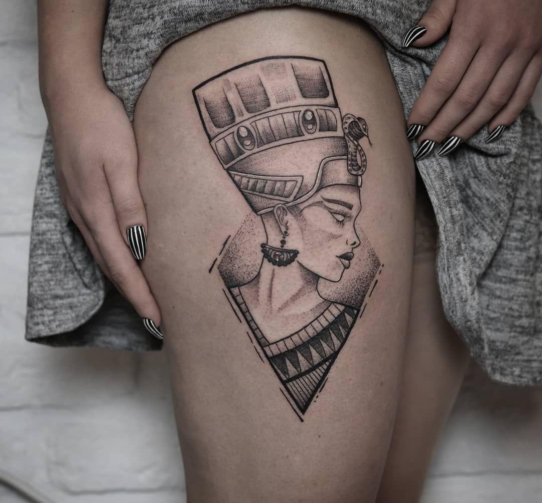 "malistudio on Instagram: ""#tattoo #malistudiokrapina #malistudio #tattoostudio #krapina #dotworktattoo #dotwork#nefertiti #nefertititattoo #blacktattoo #tattooidea…"""