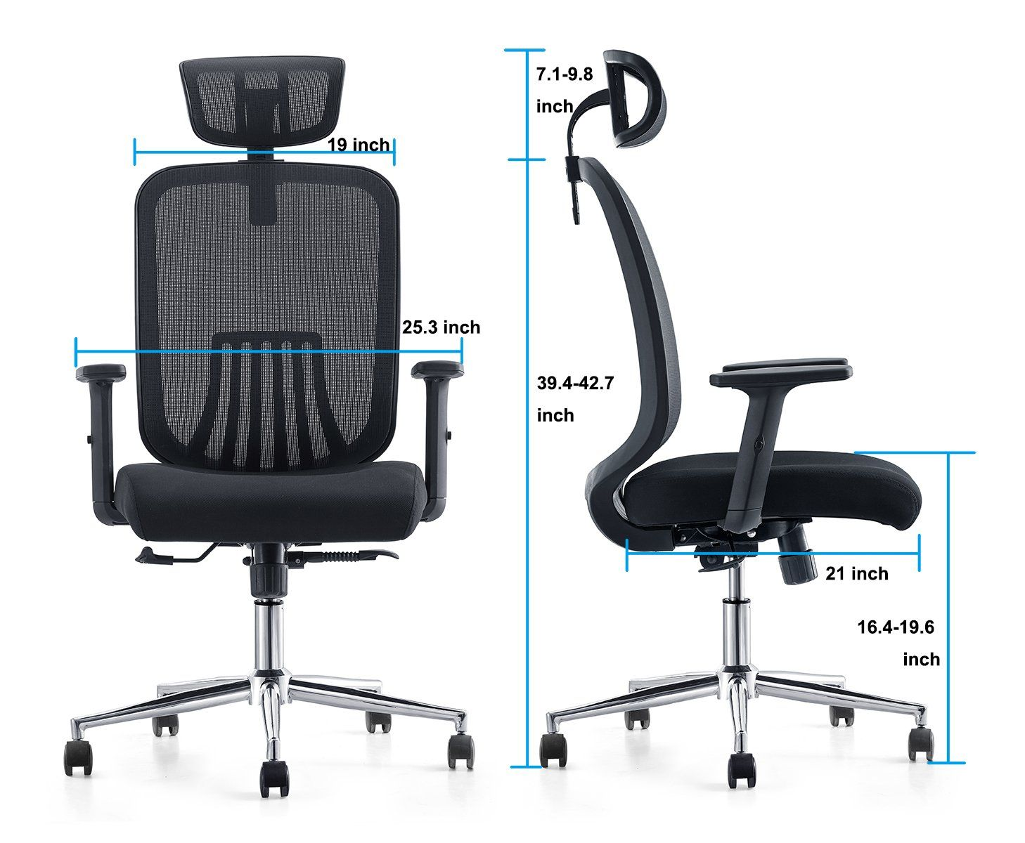 Super Cedric Ergonomic Mesh Office Chair High Back Desk Chair With Gmtry Best Dining Table And Chair Ideas Images Gmtryco