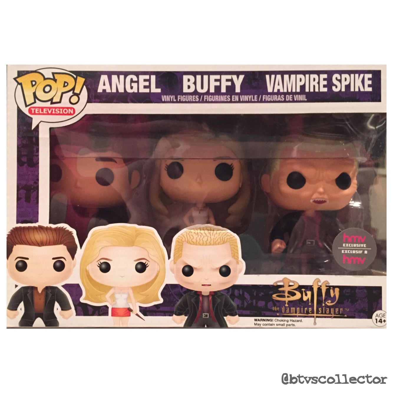 Funko Pop Vinyl Hmv Canadian Exclusive Buffy Angel Vampire Spike 3 Pack Btvscollector Btvs Buffy Buffythevampireslayer Funko Pop Dolls Pop Vinyl Figures Pop Dolls