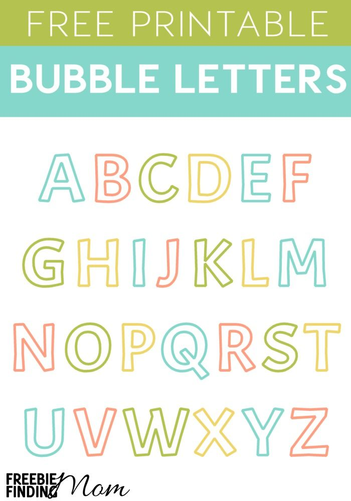 Free Printable Bubble Letters Alphabet  Craft Letters Free