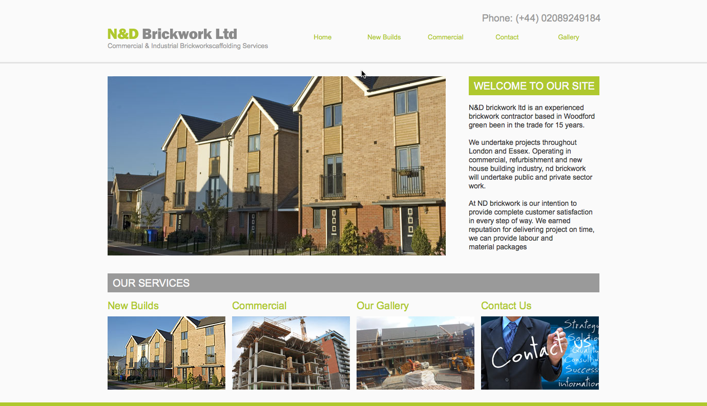 WELCOME TO OUR SITE N&D brickwork ltd is an experienced brickwork contractor based in Woodford green been in the trade for 15 years. http://www.ndbrickworkinfo.co.uk/